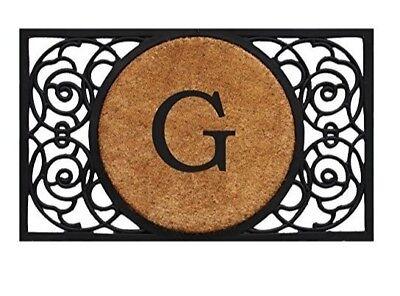 G Door Mat Monogram - Large Monogram Front Door Mat - Entry Door G Door Mat ()