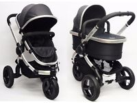 ICandy All Terrain Peach Stroller & Carrycot - Blackberry