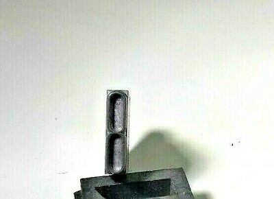 Antique Letterpress Print Block Lead Number 8 Stamp Art Deco Character Type Set