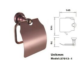 Brand New Toilet Paper Holder/Roller with Cover Brass Made in Polished Rose Gold Finish