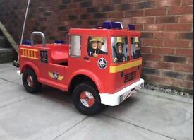 Fireman sam ride on battery truck