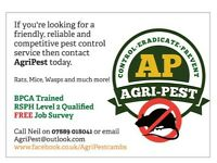 Pest Control - Rats, Mice, Wasps, Moles etc