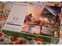 Xbox One S 500GB White Console With Assassin's Creed Origins BRAND NEW