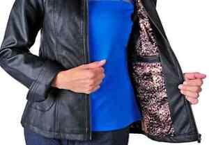 BNWT Designer Guillaume Women Black Leather Jacket Sz Small $129 West Island Greater Montréal image 2