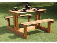 Wooden picnic table half price