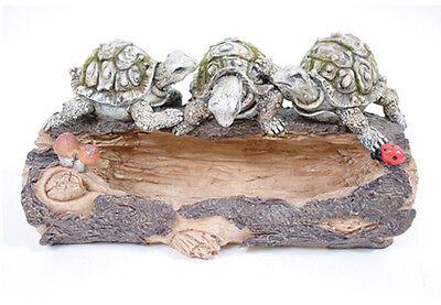 Hollow Log Turtle Bird Feeder /Tray Garden Outdoor Patio Decor