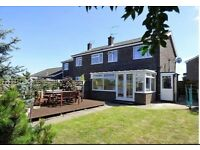 3 Bed Semi detached in village location with large corner garden and garage. Immaculate!