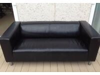 Free Black Leather Ikea sofa 'Klippen'