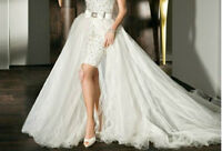 NEW Detachable Wedding Dress Train