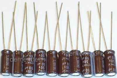 10x Nippon Ky 10uf 50v Low-esr Radial Capacitors 105c Long Life Caps