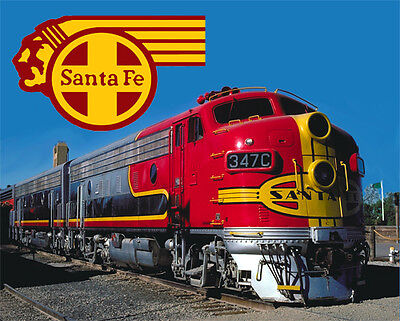 Santa Fe The Chief Railroad Train Metal Sign