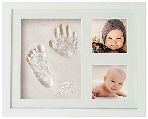 Baby Handprint Hand & Footprint Makers Memory Frame Clay Photo Keepsake Registry