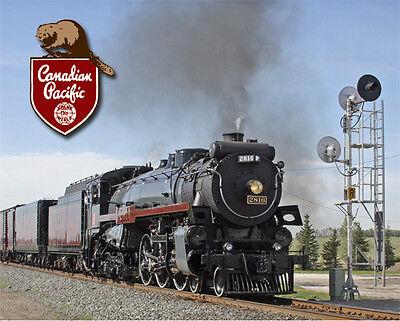 Canadian Pacific Railroad Train Sturdy Metal Sign Logo Photo
