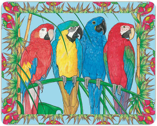 Macaw Large Cutting Board