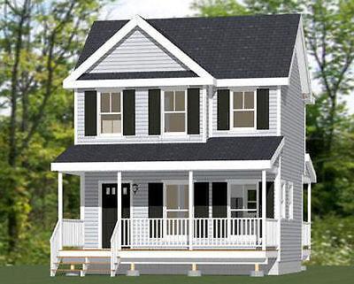 20X16 Tiny House    630 Sq Ft    Pdf Floor Plan   Model 18