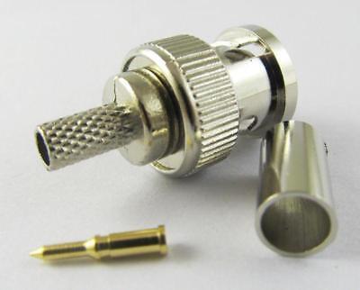 10 X 3 Piece BNC Male Plug Crimp RG58 RG142 RG400 LMR195 RG223 Coaxial Connector Bnc Rg58 Connector 3 Pieces