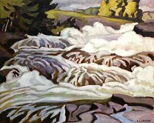 "A.J. Casson ""Buck Slide"" Lithograph - Appraised at $500"