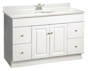 house wyndham 48 white single bathroom vanity 4 drawer cabinet only