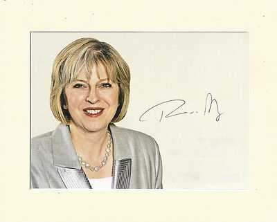 THERESA MAY CONSERVATIVE PRIME MINISTER PP 8x10 MOUNTED SIGNED AUTOGRAPH PHOTO