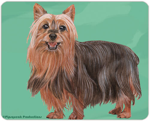 "Silky Terrier Cutting Board Tempered Glass 11.5 "" x 15.5"""