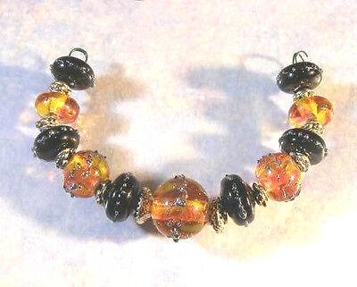 LNT- Handmade Lampwork Beads SPICEd PUNPKIN Nb6421-Halloween JewelryCraft](Halloween Punpkin)