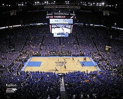 Chesapeake Energy Arena  Game 1 Of 2012 Finals  Oklahoma Thunder 8X10 Photo