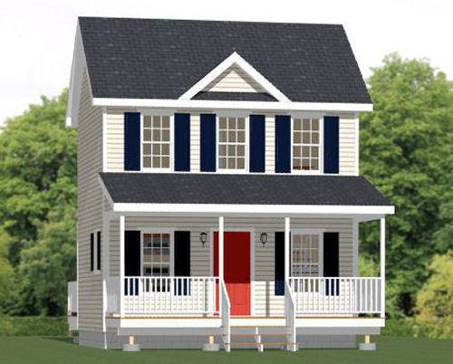20x16 Tiny House -- 584 sq ft -- PDF Floor Plan -- Model 16