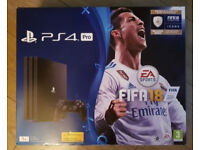 PlayStation 4 Pro + FIFA 18 Brand New & Sealed