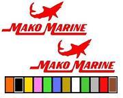 Mako Boat Stickers
