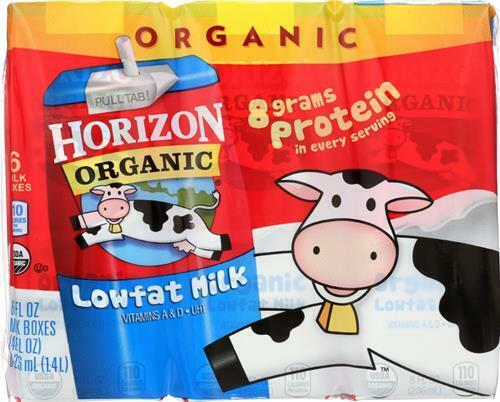 Horizon Organic Dairy-1% Milk, Pack of 18 ( 8 fl oz boxes )