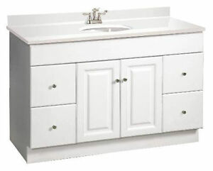 Design House Wyndham  White Rta Bathroom Vanity  Drawer Cabinet Only