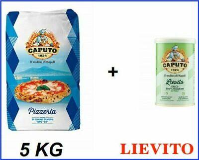 Farina per Pizza Caputo blu Pizzeria 5kg + lievito secco 100 gr senza glutine