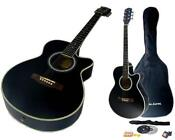 Black Full Size Acoustic Guitar