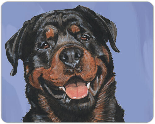 "Rottweiler Cutting Board Tempered Glass 11.5 "" x 15.5"""