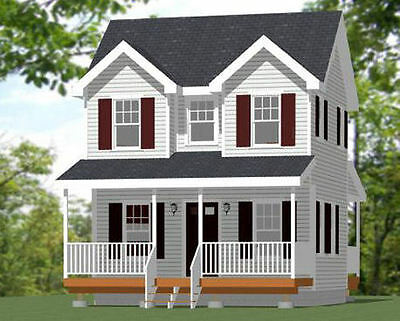 20X16 Tiny House    Pdf Floor Plan    616 Sq Ft    Model 10