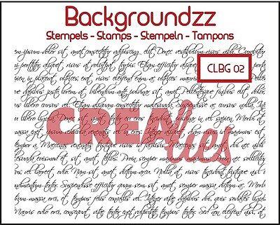 Hintergrund-Stempel Clearstamps Curly handwriting Handschrift CREAlies CLBG02