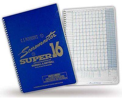 Set of 12 Scorebooks Gared Holdings Petersons Baseball Super Scoremaster 16 Scorebook from Gared Accessories