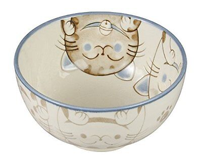 Japanese Porcelain Cat Bowl 5 Blue