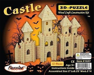 Castle 3D Wooden Puzzle Wood Craft Construction Kit Model Toy Kingdom -