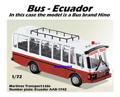 1/72 Bus Hino Ecuador Dakar Truck Rally Car Diecast Motor Racing Toy  for sale  Shipping to Canada