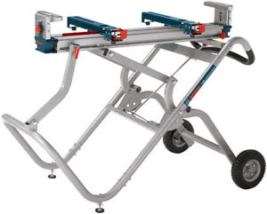 Bosch Tools Gravity-Rise Wheeled Miter Saw Stand T4B