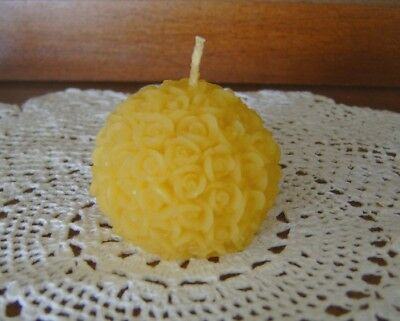 Natural Handmade Beeswax Candles - ball of roses votive ()