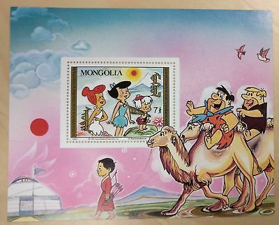 Mongolia 1991 - Flintstones stamp souvenir sheet - Scott 1921