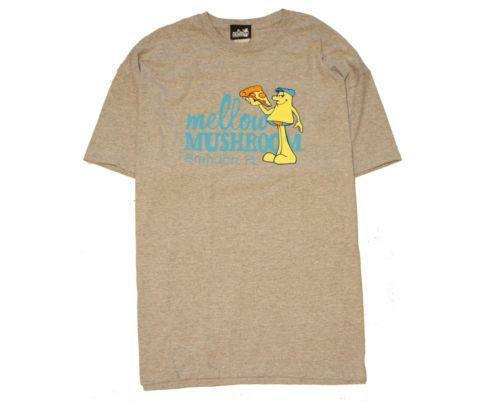White mellow mushroom Mens T-shirt White Mens mellow mushroom T-shirt Dynamically designed by you based off your unique search, this customizable, casual and loose fitting t-shirt will quickly become one of your favorites.