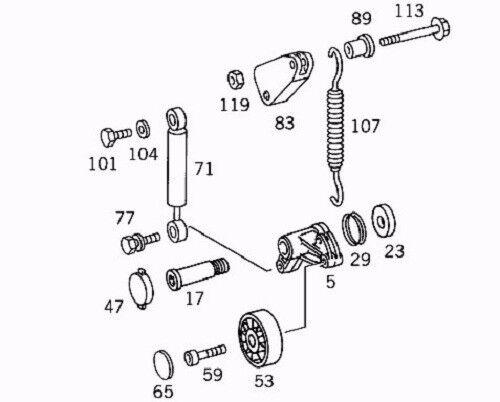 Sprinter Diesel Belt Tensioner Lever 1983-2001 Mercedes