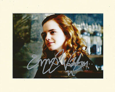 EMMA WATSON HERMIONE HARRY POTTER PP MOUNTED 8X10 SIGNED AUTOGRAPH PHOTO