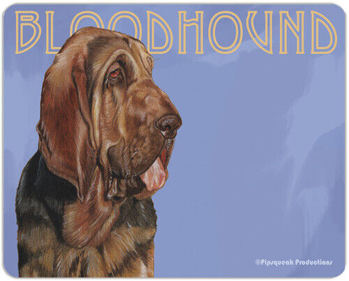 "Bloodhound Cutting Board Tempered Glass 8"" x 10"""