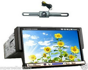 Single-1-Din-7-In-Dash-Car-Stereo-DVD-CD-Radio-Player-Touch-Screen-USA-Camera