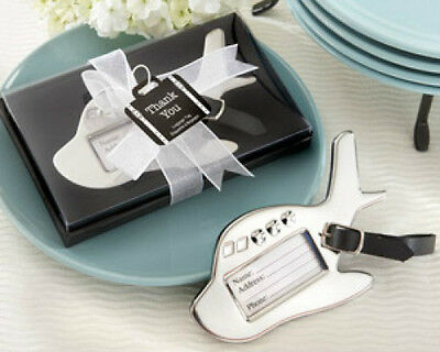 Airplane Chrome Suitcase Luggage Tag Wedding Favors Luggage Tag Wedding Favors