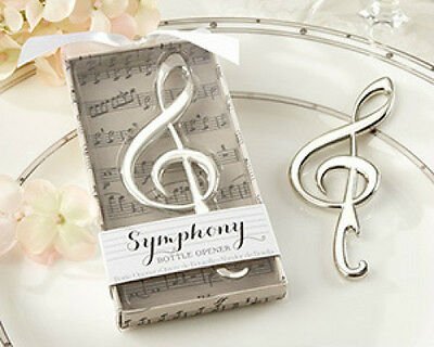 Symphony Chrome Music Note Bottle Opener Bridal Shower Wedding Favors - Music Note Favors